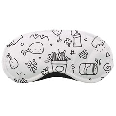 Set Chalk Out Scribble Collection Sleeping Masks