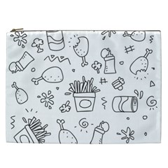 Set Chalk Out Scribble Collection Cosmetic Bag (xxl)  by Celenk