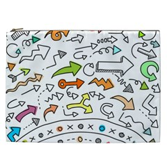 Desktop Pattern Art Graphic Design Cosmetic Bag (xxl)