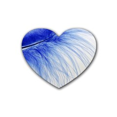 Spring Blue Colored Heart Coaster (4 Pack)