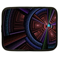 Fractal Circle Pattern Curve Netbook Case (xxl)  by Celenk