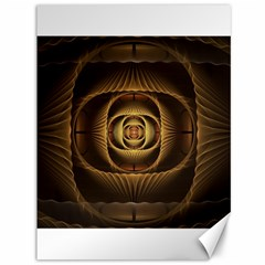 Fractal Copper Amber Abstract Canvas 36  X 48   by Celenk
