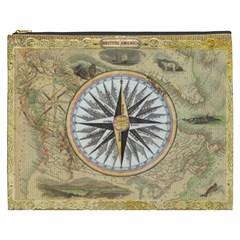 Map Vintage Nautical Collage Cosmetic Bag (xxxl)