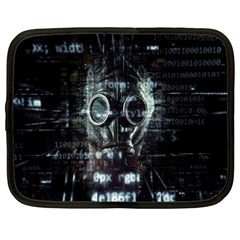 Gas Mask Contamination Contaminated Netbook Case (xl)