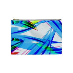Lines Vibrations Wave Pattern Cosmetic Bag (medium)