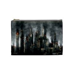 Armageddon Disaster Destruction War Cosmetic Bag (medium)  by Celenk