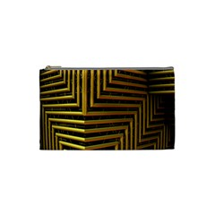 Modern Art Sculpture Architecture Cosmetic Bag (small)  by Celenk