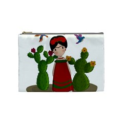 Frida Kahlo Doll Cosmetic Bag (medium)