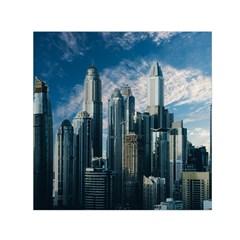 Skyscraper Cityline Urban Skyline Small Satin Scarf (square)