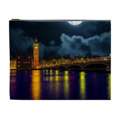 London Skyline England Landmark Cosmetic Bag (xl) by Celenk