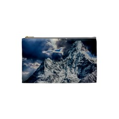 Mountain Snow Winter Landscape Cosmetic Bag (small)  by Celenk