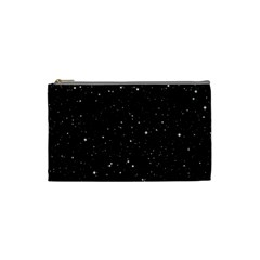 Black Background Texture Stars Cosmetic Bag (small)