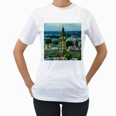 London England City Landmark Women s T Shirt (white)