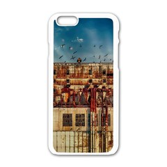 Ruin Abandoned Building Urban Apple Iphone 6/6s White Enamel Case by Celenk