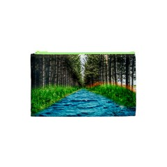 River Forest Landscape Nature Cosmetic Bag (xs) by Celenk