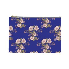 Ndigo Bedding Floral Cosmetic Bag (large)  by Celenk