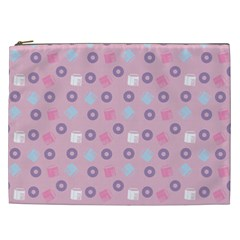 Milk And Donuts Pink Cosmetic Bag (xxl)  by snowwhitegirl