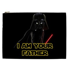 Darth Vader Cat Cosmetic Bag (xxl)  by Valentinaart