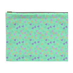 Minty Hearts Cosmetic Bag (xl) by snowwhitegirl