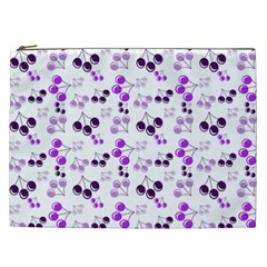 Purple Cherries Cosmetic Bag (xxl)  by snowwhitegirl