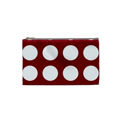 Big Dot Red Cosmetic Bag (small)  by snowwhitegirl