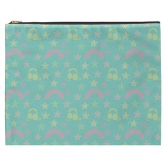 Music Stars Seafoam Cosmetic Bag (xxxl)  by snowwhitegirl