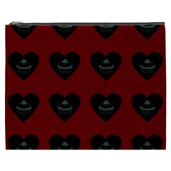 Cupcake Blood Red Black Cosmetic Bag (xxxl)  by snowwhitegirl
