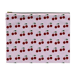 Pink Cherries Cosmetic Bag (xl) by snowwhitegirl