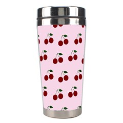 Pink Cherries Stainless Steel Travel Tumblers by snowwhitegirl
