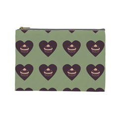 Cupcake Green Cosmetic Bag (large)  by snowwhitegirl