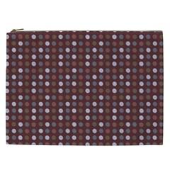Grey Pink Lilac Brown Eggs On Brown Cosmetic Bag (xxl)  by snowwhitegirl