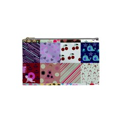 Quilt Of My Patterns Cosmetic Bag (small)  by snowwhitegirl