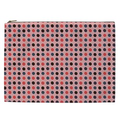 Grey Red Eggs On Pink Cosmetic Bag (xxl)  by snowwhitegirl