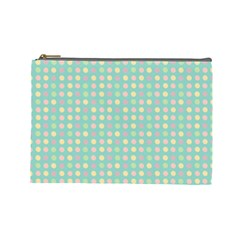 Pink Peach Green Eggs On Seafoam Cosmetic Bag (large)  by snowwhitegirl