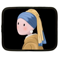 Girl With A Pearl Earring Netbook Case (xl)  by Valentinaart