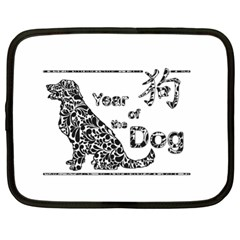 Year Of The Dog   Chinese New Year Netbook Case (xl)  by Valentinaart