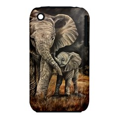 Elephant Mother And Baby Iphone 3s/3gs by ArtByThree