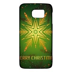 Christmas Snowflake Card E Card Galaxy S6 by Nexatart