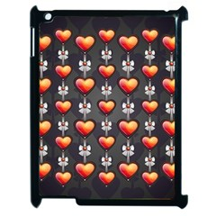 Love Heart Background Apple Ipad 2 Case (black)