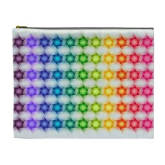 Background Colorful Geometric Cosmetic Bag (xl) by Nexatart