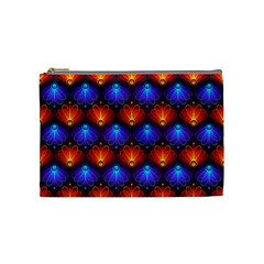 Background Colorful Abstract Cosmetic Bag (medium)  by Nexatart