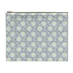 Daisy Dots Grey Cosmetic Bag (xl) by snowwhitegirl