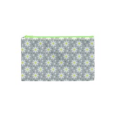 Daisy Dots Grey Cosmetic Bag (xs) by snowwhitegirl
