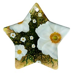 Summer Anemone Sylvestris Ornament (star) by Nexatart