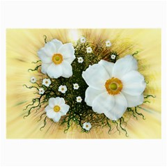 Summer Anemone Sylvestris Large Glasses Cloth (2 Side) by Nexatart
