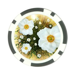 Summer Anemone Sylvestris Poker Chip Card Guard (10 Pack) by Nexatart