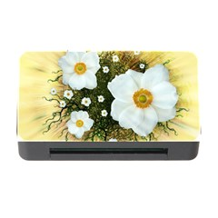 Summer Anemone Sylvestris Memory Card Reader With Cf by Nexatart