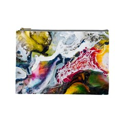 Abstract Art Detail Painting Cosmetic Bag (large)