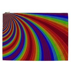 Abstract Pattern Lines Wave Cosmetic Bag (xxl)