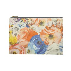 Texture Fabric Textile Detail Cosmetic Bag (large)  by Nexatart